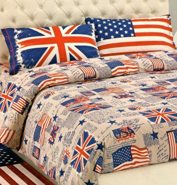 Parure copripiumino piazza e mezza bandiere vendita online di biancheria per la casa - Ikea lenzuola una piazza e mezza ...