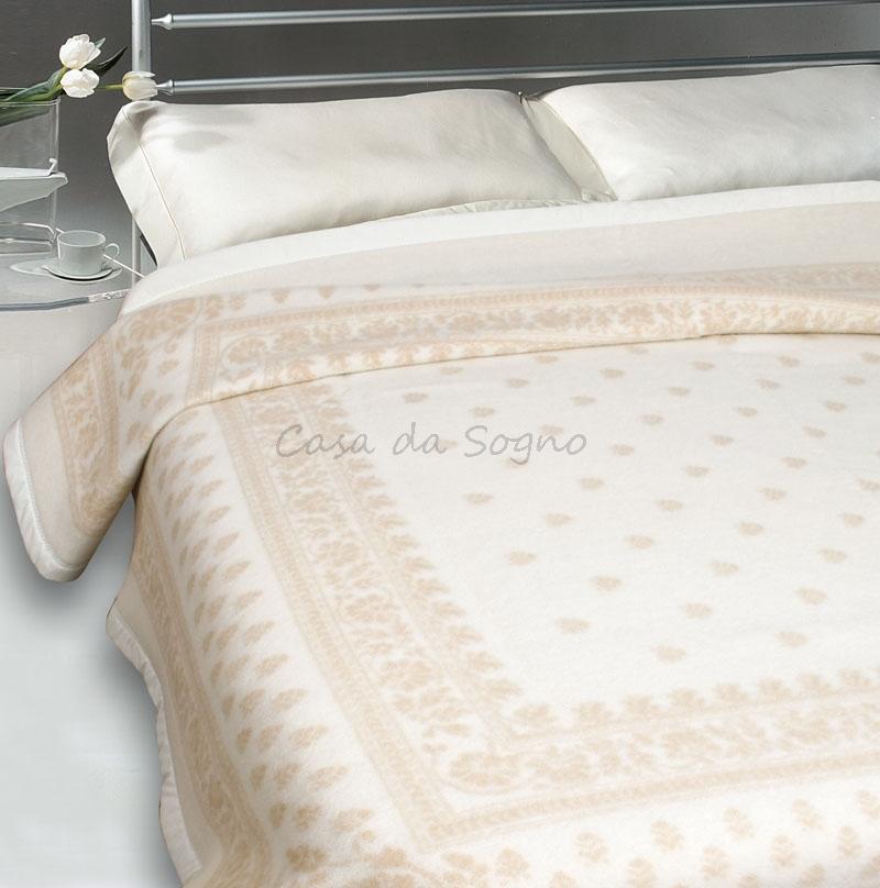 new concept 5ea01 9f63e Coperta Matrimoniale LaneRossi Provenzale Bianco Beige