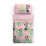 Copriletto Minnie Estivo Caleffi Singolo Palm Beach