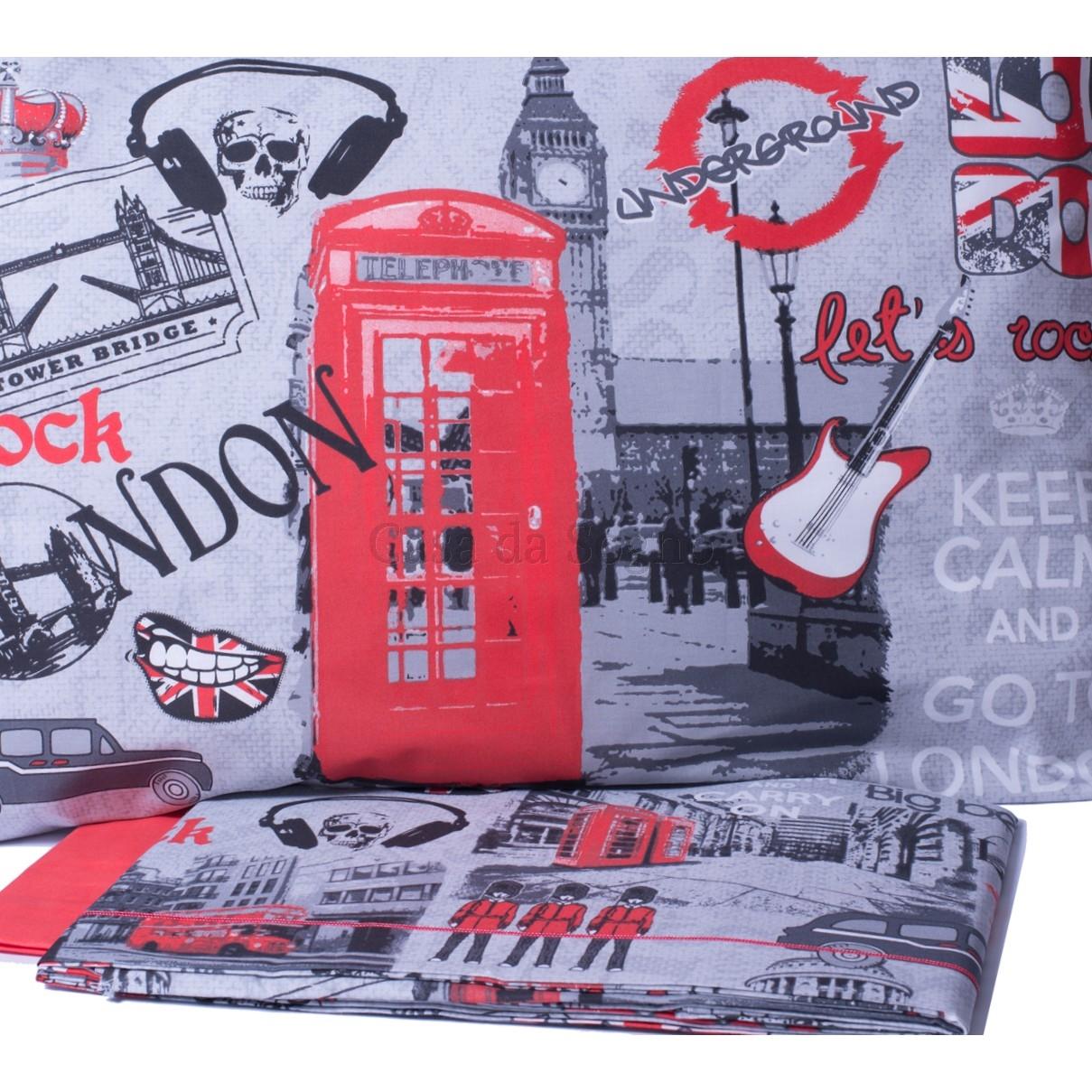 Copripiumino Londra Singolo.Parure Copripiumino Singolo Londra Casadasogno