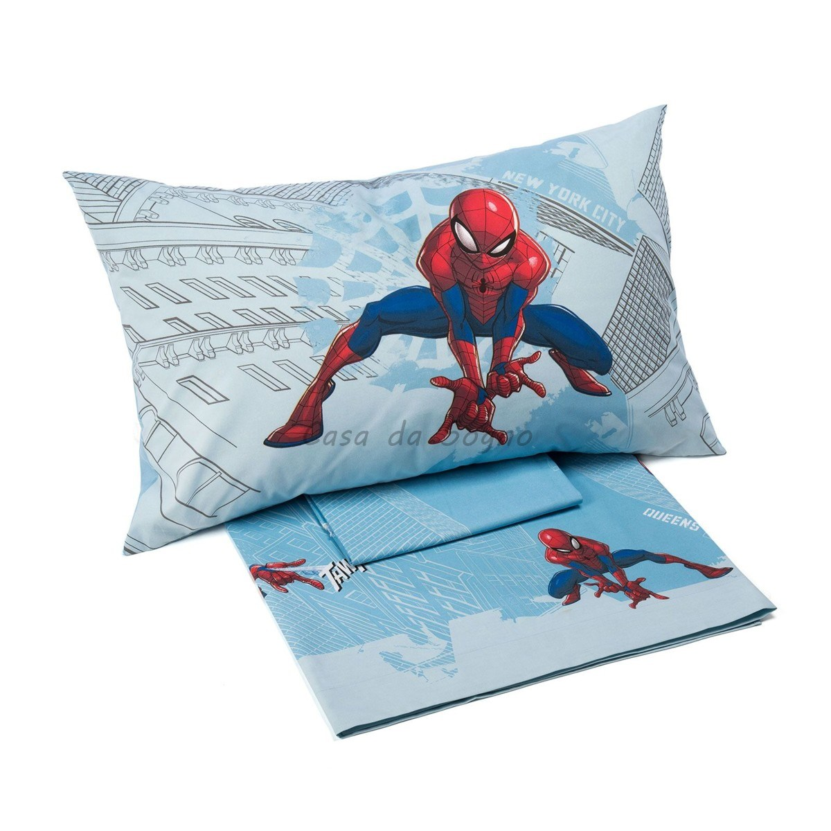 Lenzuola Spiderman Caleffi Singole Manhattan Casadasogno