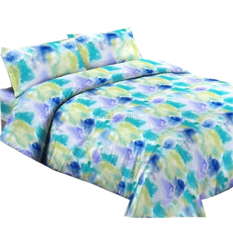 Lenzuola piazza e mezza acquarello azzurro casadasogno - Ikea lenzuola una piazza e mezza ...