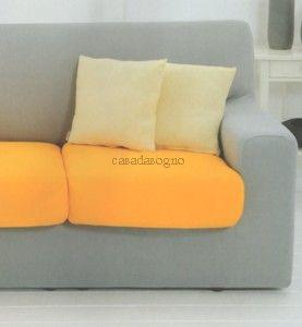 Copripoltrona o copridivano 2 3 posti genius vendita - Copridivano chaise longue su misura ...